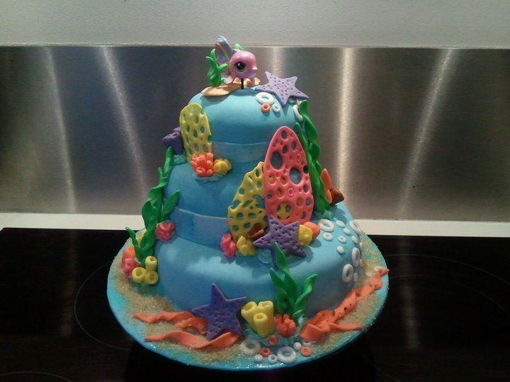 aquarium taart aquarium fondant taart, aquarium cake, coral | Wedding cakes  aquarium taart