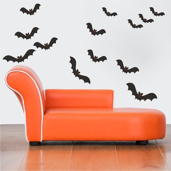 Bat Wall Decals SHEET SIZES (in inches u2013 each sheet includes 13 variously sized bats & Bat Wall Decals SHEET SIZES (in inches u2013 each sheet includes 13 ...