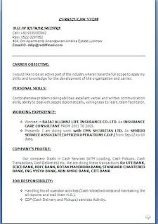 Sample Cv In Word Format Sample Template Example Ofbeautiful