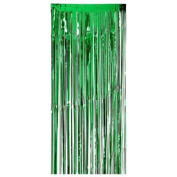 Green Curtain Fringe Tassel Wedding Decor Metallic Foil Photo Backdrop Birthday Party Door Frame Dec #curtainfringe