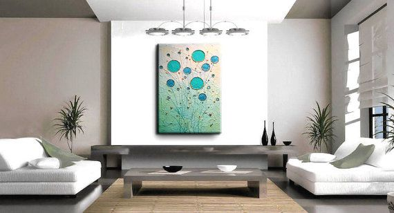 Turquesa oro Original Modern Abstract Painting por natasartstudio