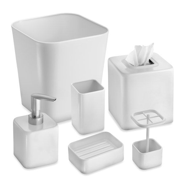 InterDesign® Gia White Bath Ensemble - Bed Bath & Beyond