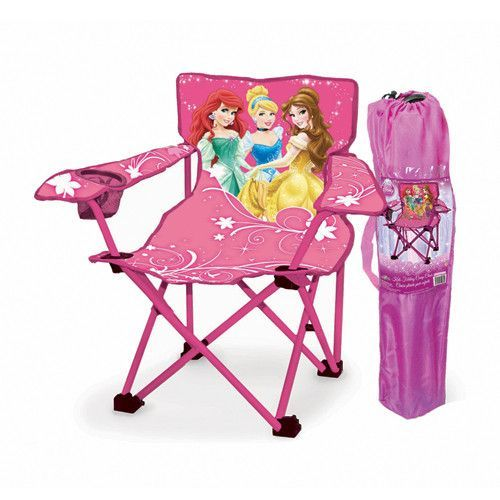 Ideal For The Preschooler, Comes This Adorable Disney Princess Folding Chair.  Folds Up Into A Handy Bag.