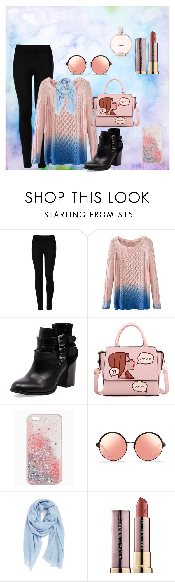 """""""Casual"""" by megeller on Polyvore featuring moda, Wolford, Bonbons, Matthew Williamson, Caslon, Urban Decay e Chanel"""