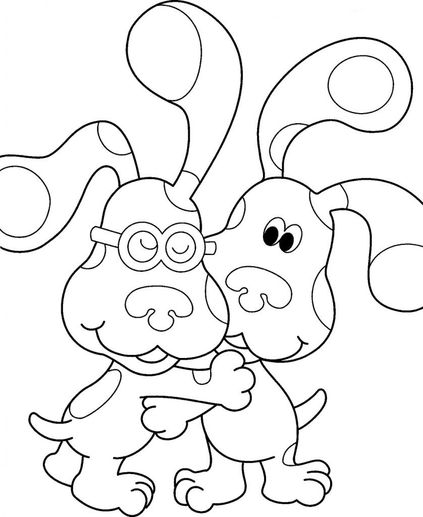 blues clues coloring pages to print