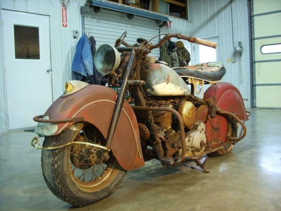 This 1947 Indian Chief Barn Find Is Remarkably Complete And Ready For Restoration It S A Matching Numbers Exampl Indian Motorcycle Motorcycle Indian Motorbike