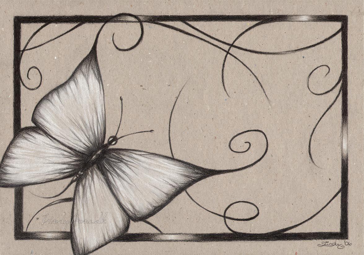 butterflies drawings | Zindy-Zone.dk - Coloured Paper ...