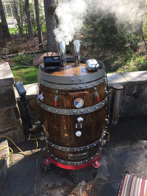 Wine Barrel Smoker By Dormansvilledesign On Etsy Great Designs In 2018