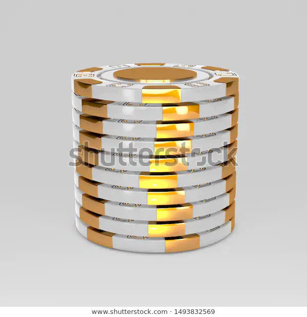 White Stacked Poker Chips Classic Casino Game 3d Tokens Gambling Concept White Poker Chips With Golden Design Elements Isolated On Poker Chips Poker Casino