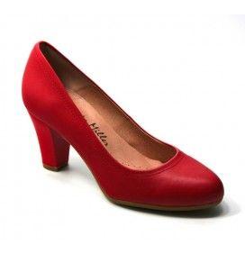 9d7fa1ca Zapato salón en piel color rojo de Patricia Miller. | Zapatos ...