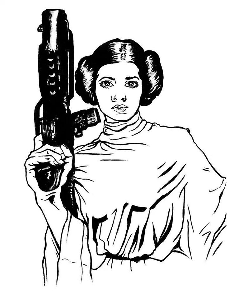 Star Wars Coloring Pages Princess Leia Check More At Prinzewilson