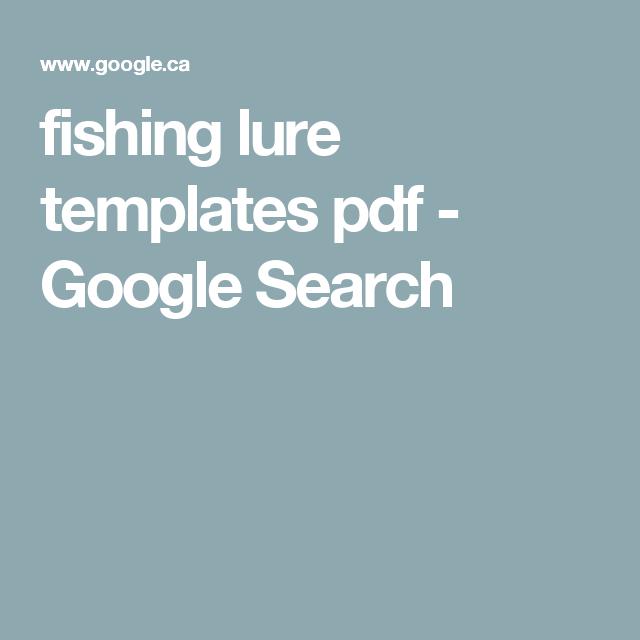 Fishing Lure Templates Pdf