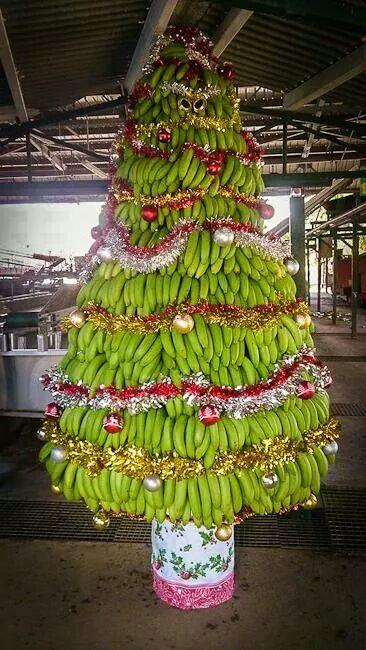 Banana Christmas Tree Caribbean Style Christmas Love It Caribbean Christmas Creative Christmas Trees Alternative Christmas Tree
