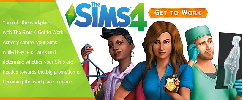 """We sell the """"The Sims 4 Get to Work (Expansion)"""" (Origin"""