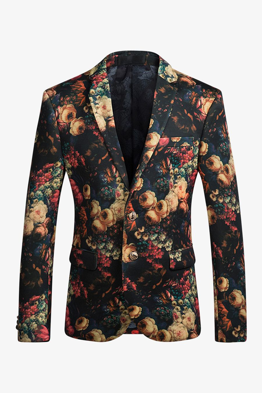 8ca702c0db4 Add an interesting element to your work wardrobe with this 2-button sport  coat. This suit jacket is overlaid with featuring a bold ...