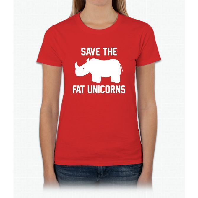 Save The Fat Unicorns Womens T-Shirt