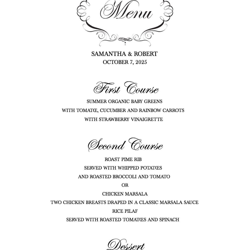 Download A Free Wedding Menu Template Pertaining To Wedding Menu Choice Template - 10+ Professional Templates Ideas | 10+ Professional Templates Ideas #weddingmenutemplate