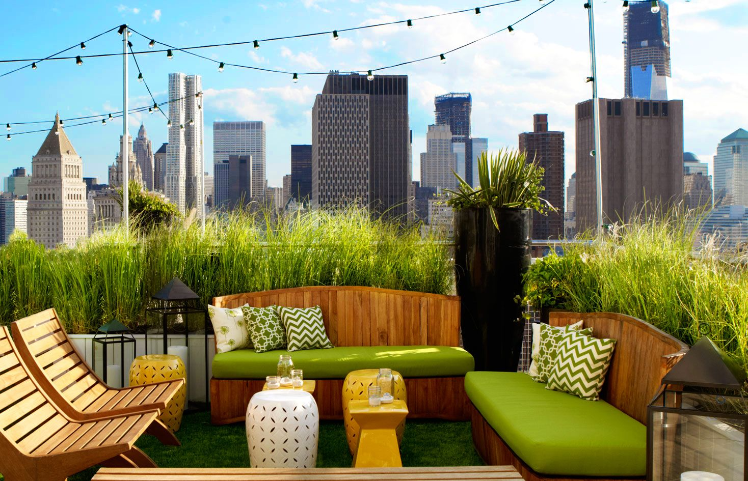 New York Rooftop Bar Lounge Mondrian Soho Hotel Nyc