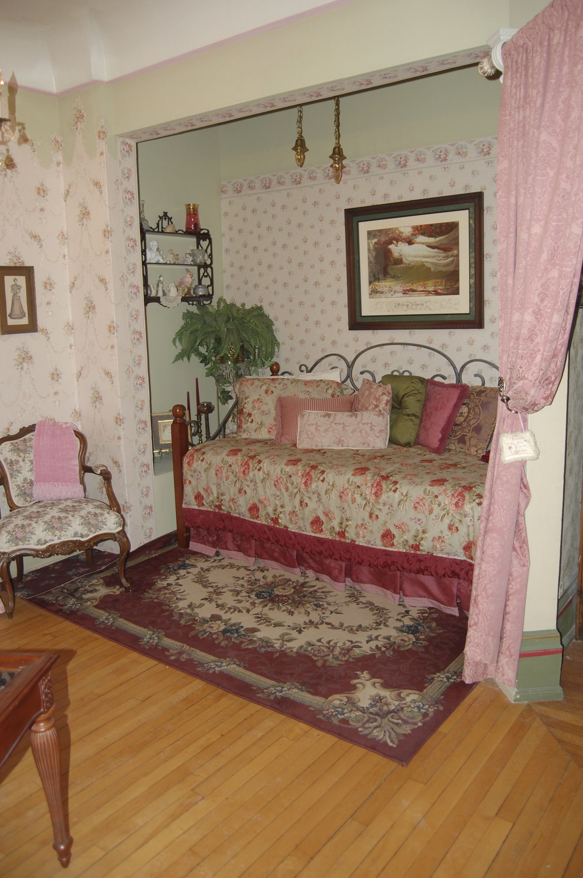 Twin Bed Hotel Room: Frist Room You Walk Into. This Room Can Sleep 2 People