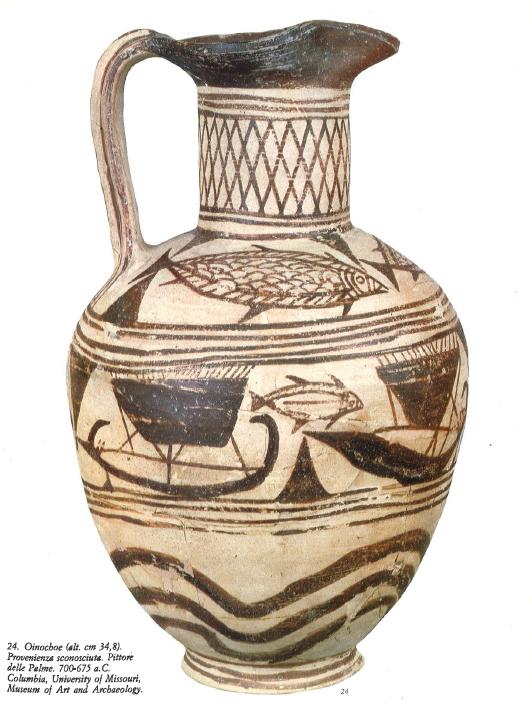 Etr pottery -- Etruscan Geometric Oinochoe 700-675 BCE