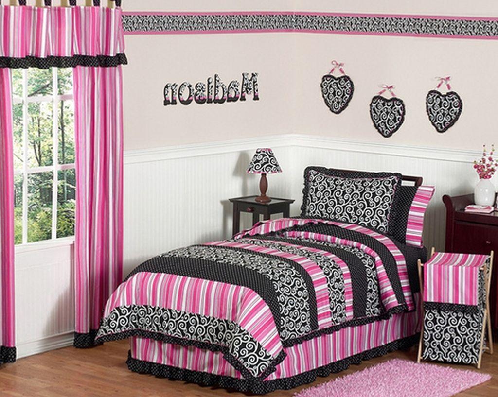Hot Pink Wallpaper For Bedroom Ideas Wonderful Room Decorating Black