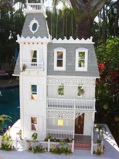 Artist Robin Carey's take on the Alison Jr. Dollhouse… amazing inside!!