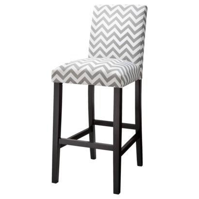 kitchen bar stools target   Uptown Bar Stool - Grey & White Chevron   New  white - Kitchen Bar Stools Target Uptown Bar Stool - Grey & White