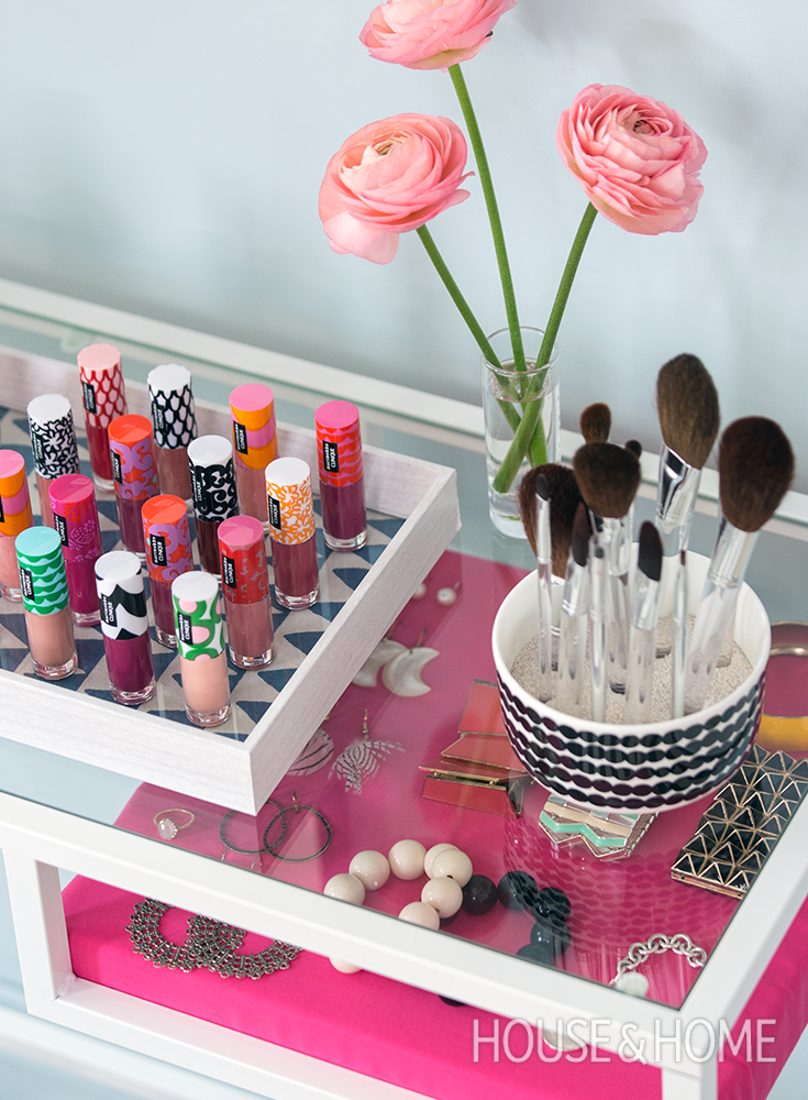A Pretty Diy Vanity Project Inspired By Marimekko  Great Contests ... A Pretty Diy Vanity Project Inspired By Marimekko  Great Contests ... Makeup Diy Crafts diy makeup vanity projects