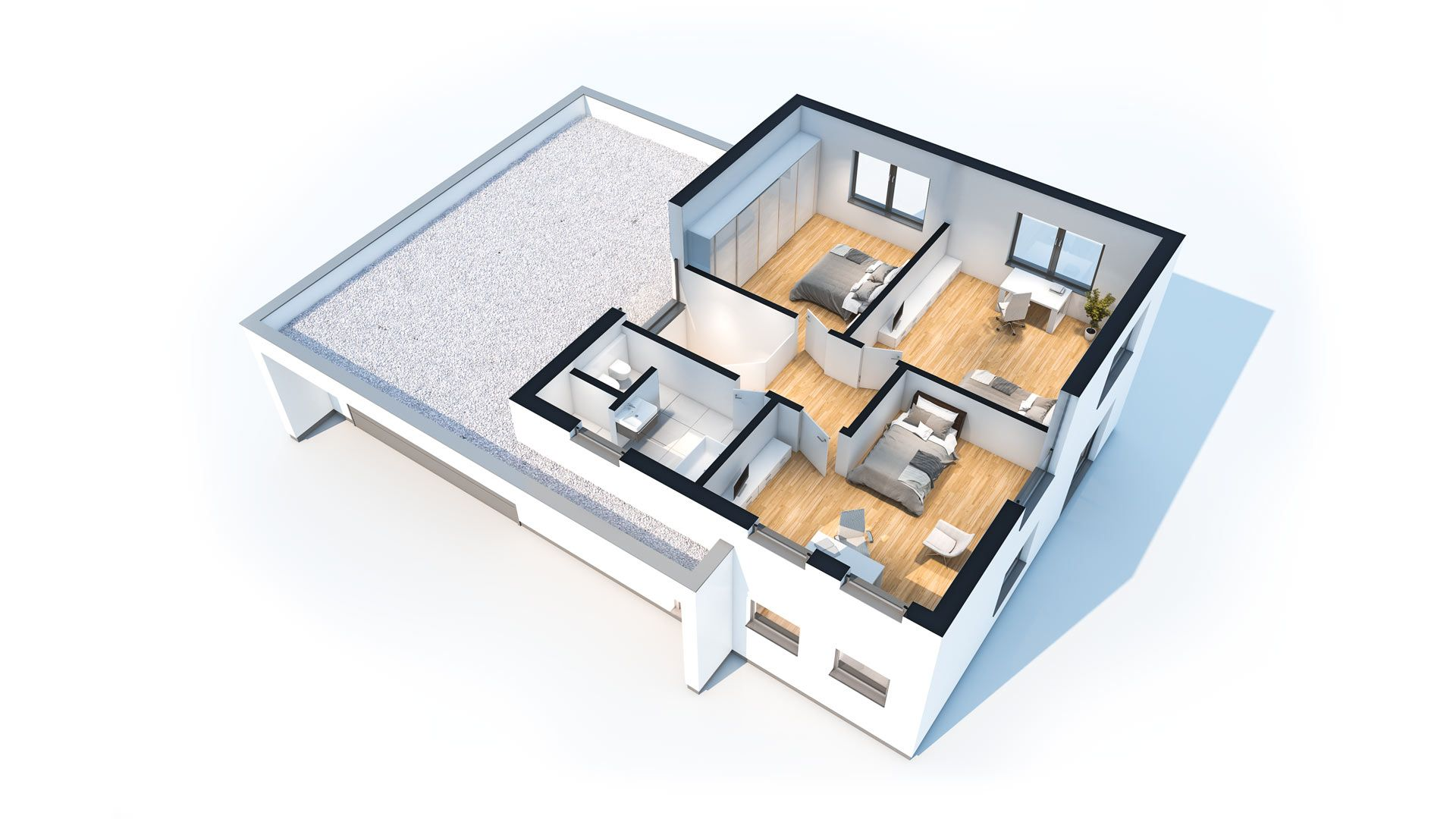 Bauhaus Merkmale klima häuser einfamilienhaus garten fertighaus ökologisch bauen