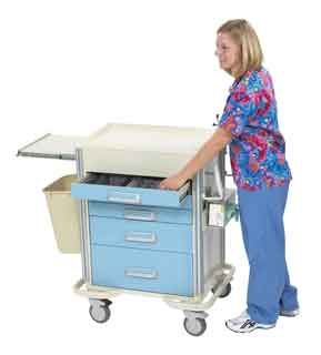 5-Drawer Anesthesia Cart available with accessories to make your job a little easier