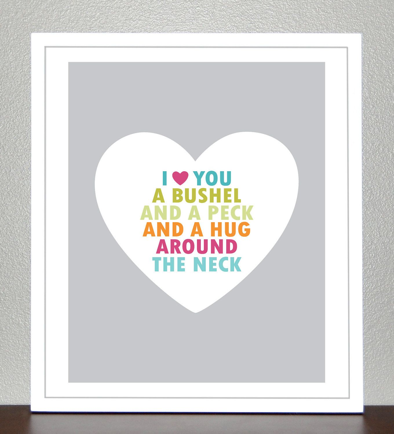 Prints for kids a bushel and a peck and a hug around the neck