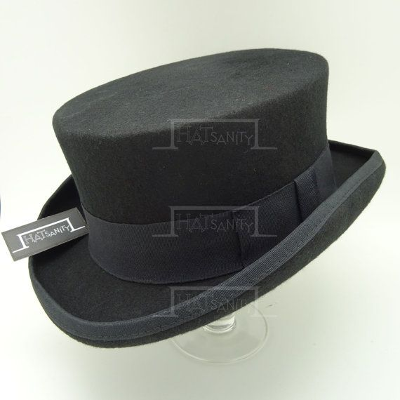 1df598d2804 VINTAGE Wool Felt Formal Tuxedo Short Topper Top Hat by HATsanity ...