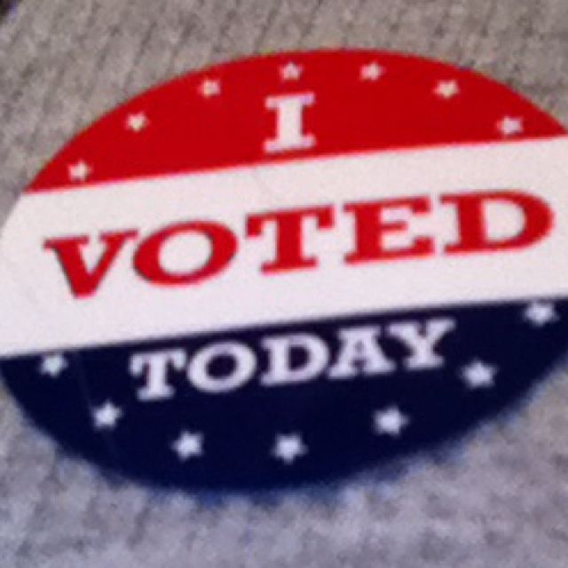 Go get your vote on today... we did!! :)