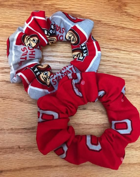 Ohio State scrunchies Ohio State Buckeyes Scrunchies Ohio