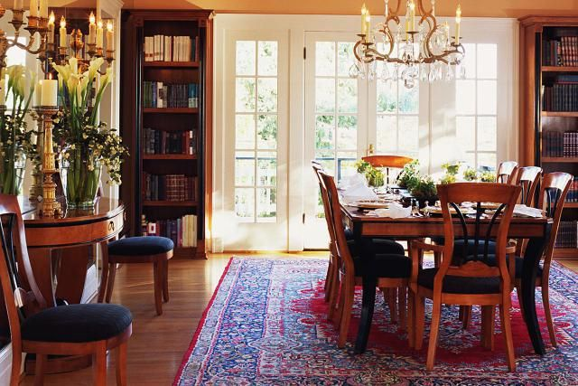 What To Know When Choosing The Right Dining Room Rug Dining Rug Formal Dining Room Sets Elegant Dining Room Furniture