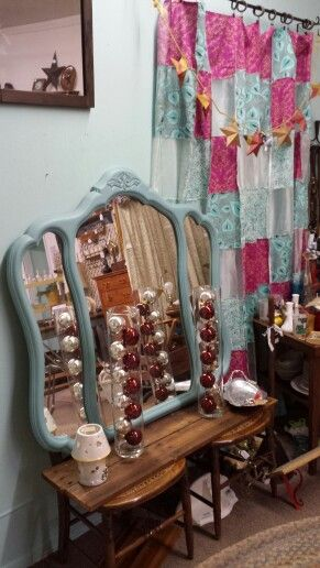 Annie Sloan chalk paint mirror Visit Roadhouse Antiques on Facebook