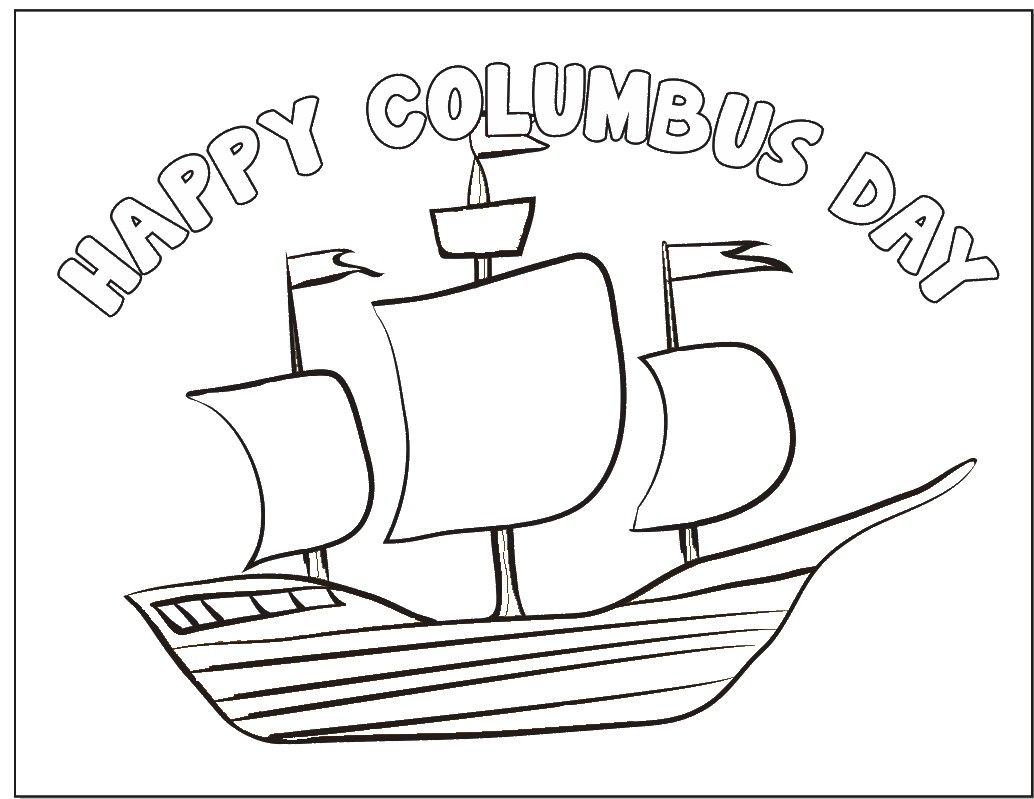 worksheet Columbus Day Worksheets this columbus day coloring page is a good prop as you talk to children about columbus