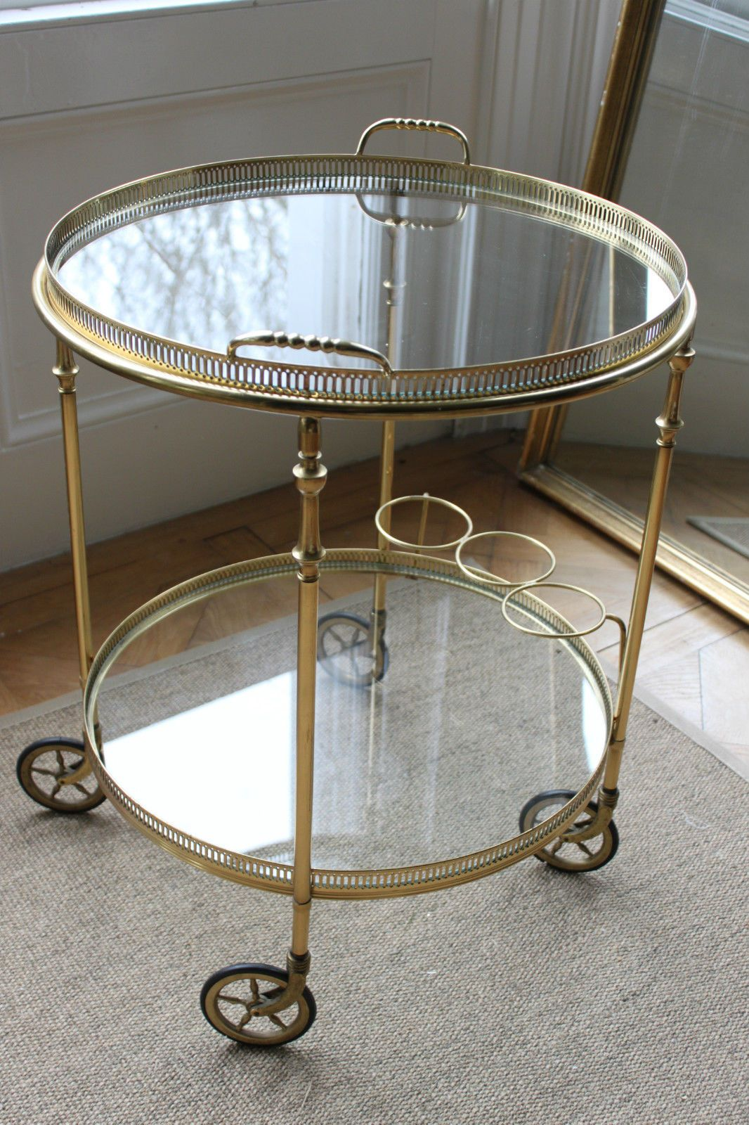 Vintage Brass French Drinks Trolley Bar Cart French Brass Drinks Trolley Vintage Brass [ 1600 x 1066 Pixel ]