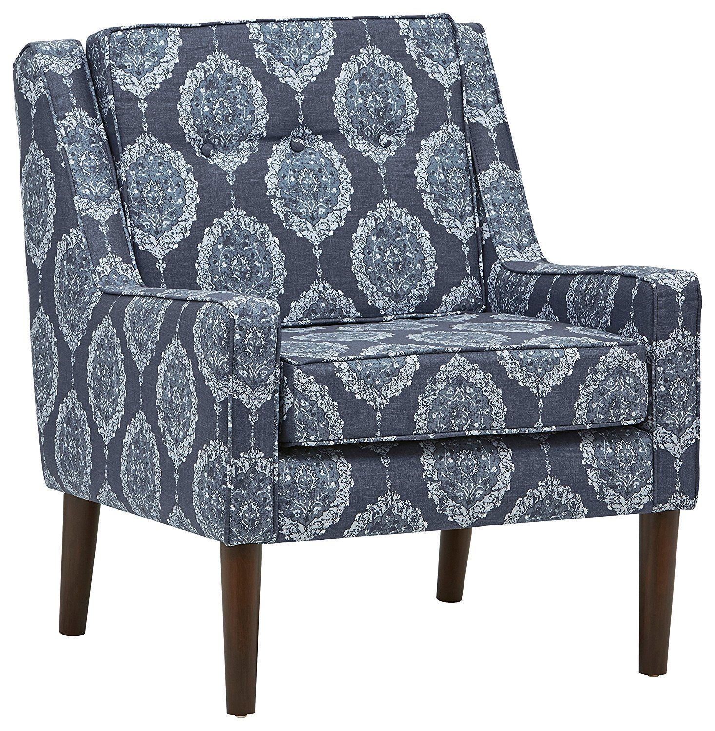 Amazon Com Stone Beam Modern Sweeping Arm Accent Chair 28 W