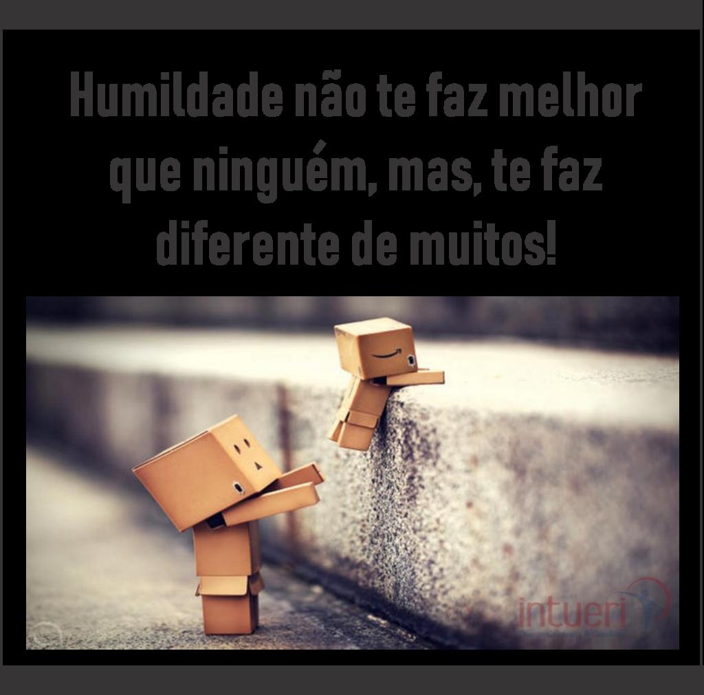 A humildade faz a diferença