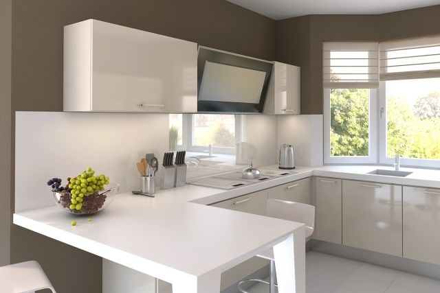 Peinture Cuisine Avec Meubles Blancs Idées Inspirantes - Peinture cuisine blanche pour idees de deco de cuisine