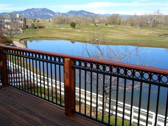 Best Metal Wood Deck Railing Iron Railings Outdoor 640 x 480