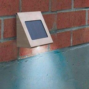 Shine solcelle-veggspot i rustfritt stål