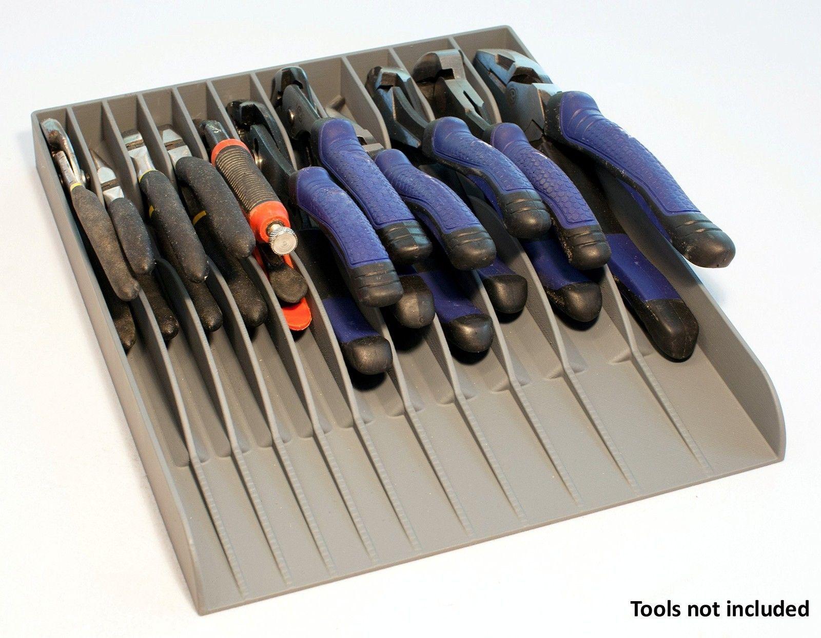 new tool box 11 pliers organizer sorter holder tray rack