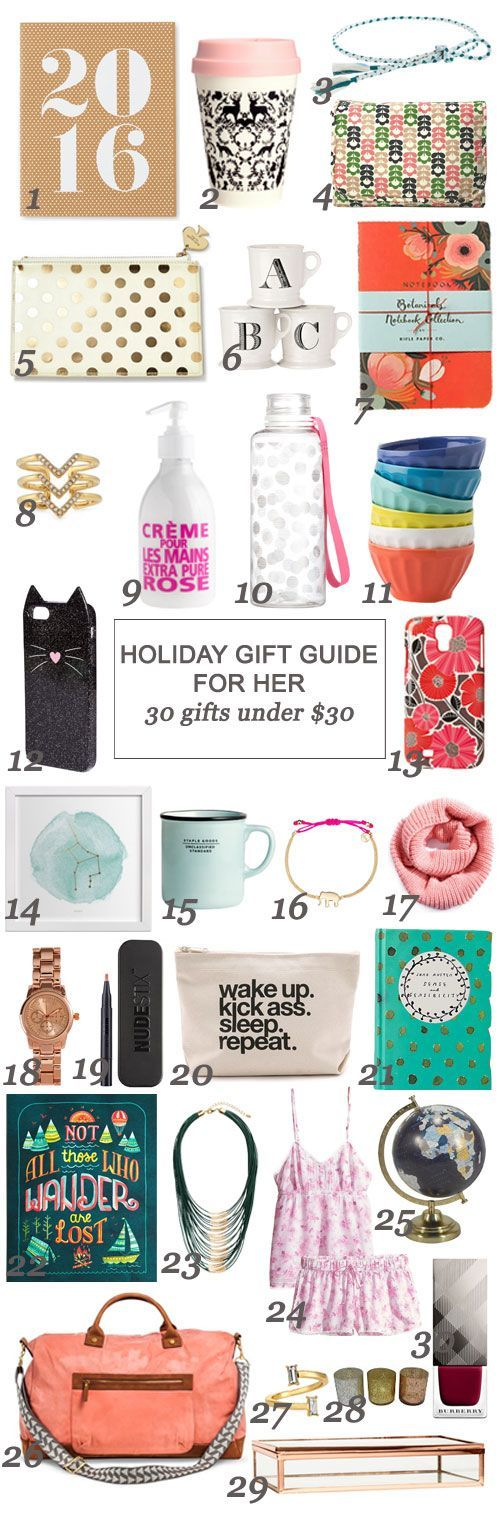 holiday gift guide for her 30 gifts under 30