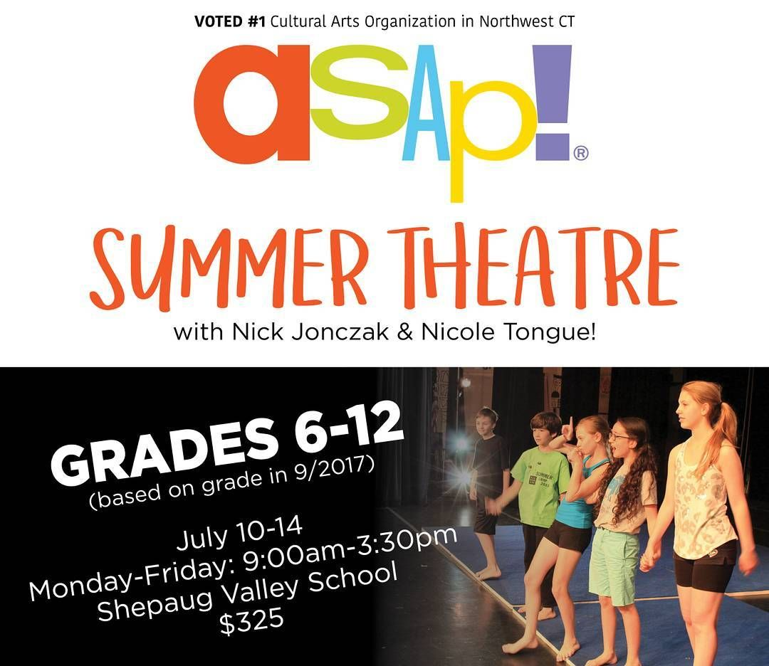 Got Summer Theatre (grades 6-12) on your calendar? Sign up today! http://ift.tt/2sYurds