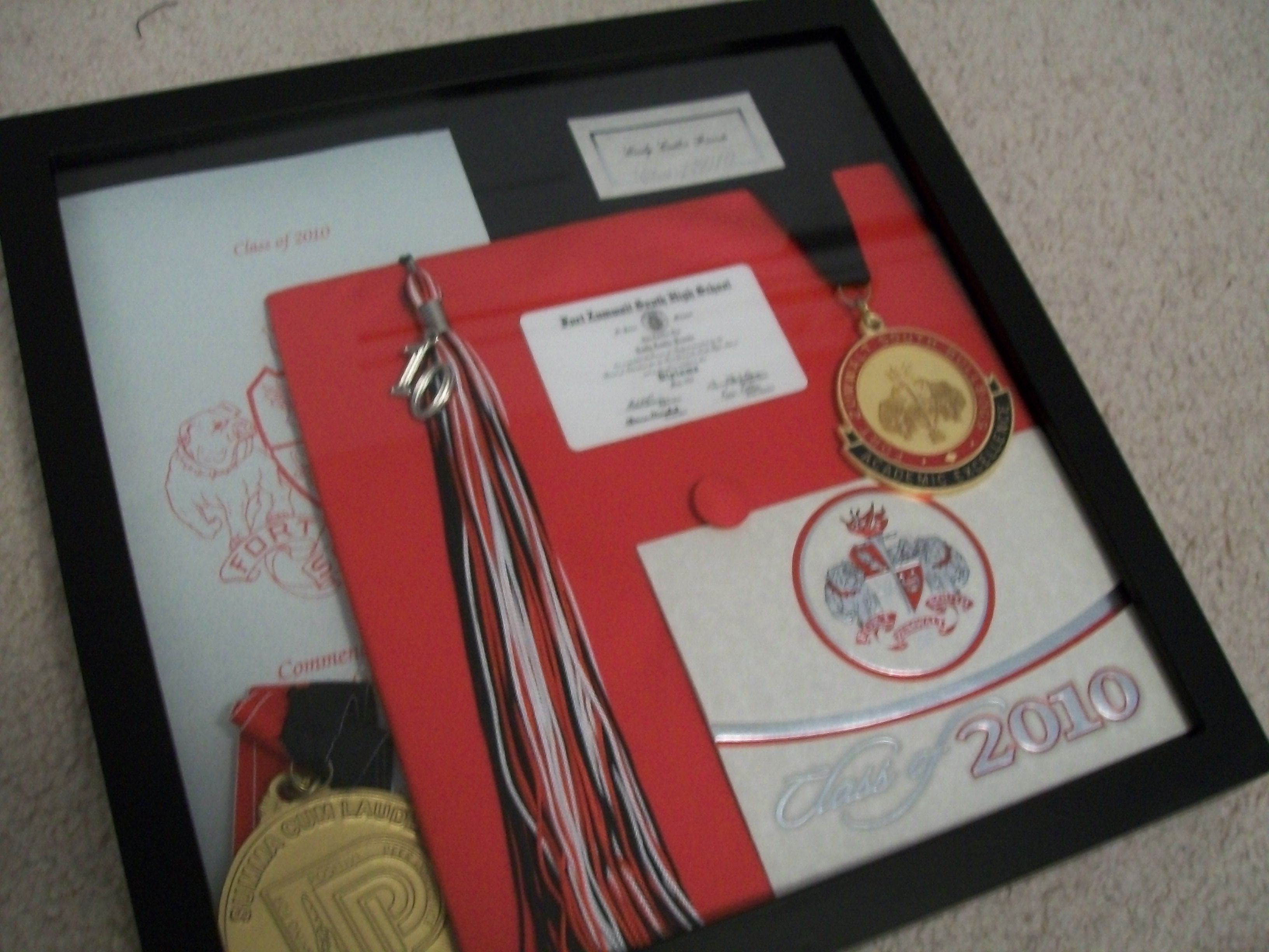 High school graduation shadow box...I used the one from Michaels ...