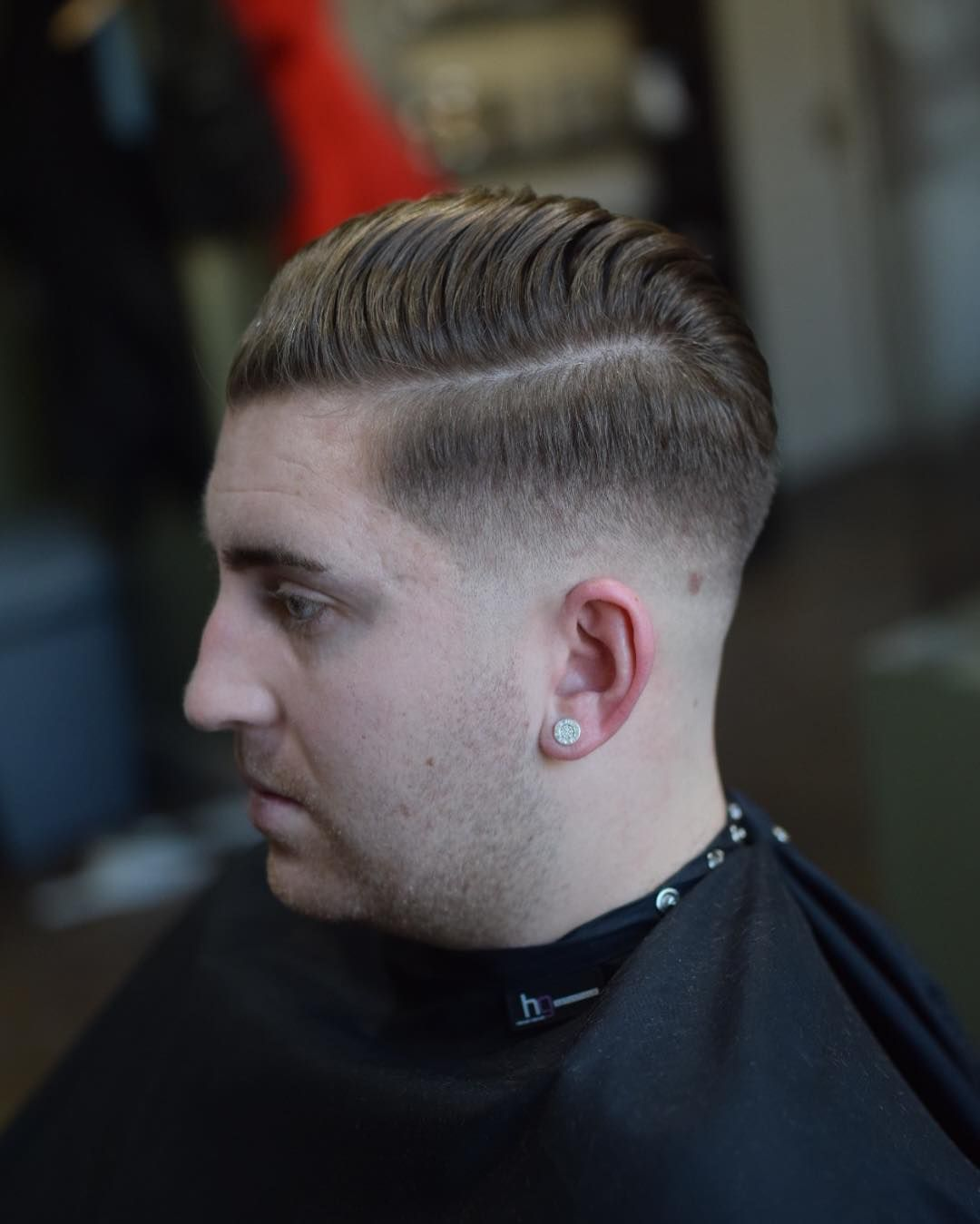 Classic Double Part Haircuts For Men Crispy Hard Part Hairstyle