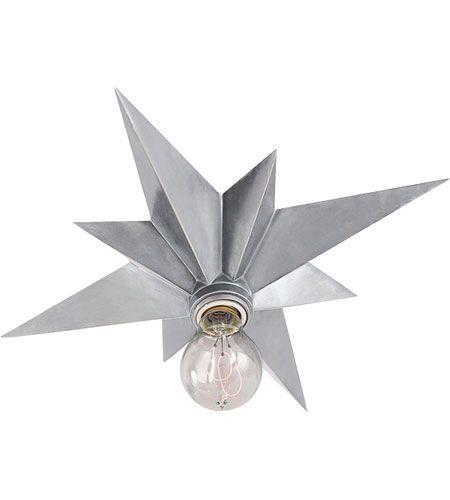 Visual Comfort Sc4000as Eric Cohler Star 1 Light 15 Inch Antique Silver Flush Mount Ceiling Light Ceiling Fixtures Visual Comfort Lighting Flush Mount Ceiling