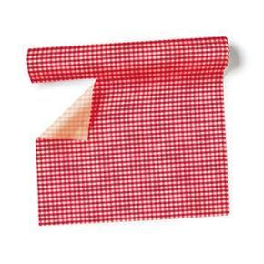 Chemin de table et set intissé Vichy rouge 3,60x40cm 4,83€   Serviettes papier x20 3,95€